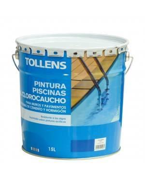 Peinture de piscine en caoutchouc chloré Tollens 15 L