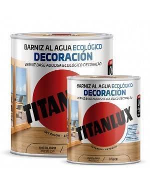 Titan Barniz al agua Ecológico Decoración Mate Incoloro Titanlux