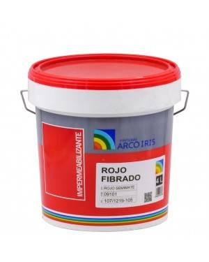 Pinturas Arcoiris Impermeabilizante Rojo Fibrado Arcoiris