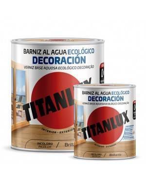 Titan Ökologischer Wasserlack Satin Dekoration Titanlux