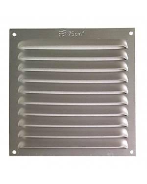 Rejilla Ventana Aluminio Sin Pestaña 15X15 Plata
