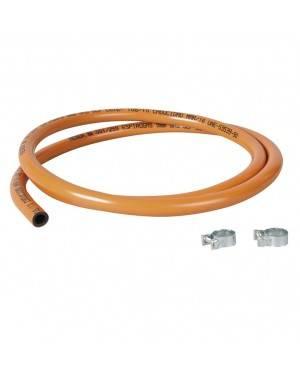 Tubo Plástico Gas Butano 1,5M Con 2 Abrazaderas