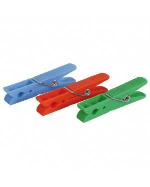 Pinzas Ropa Pack 24 Piezas Plástico