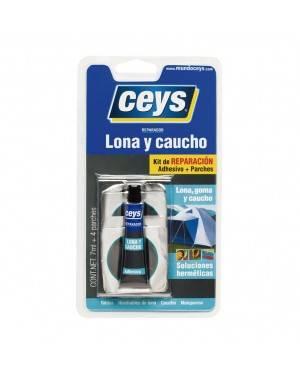 Reparador Lona Y Caucho 7 Ml Con 4 Parches Ceys