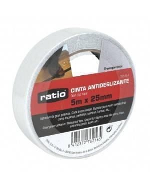 Cinta Antideslizante 25 Mm X5M Transparente Ratio