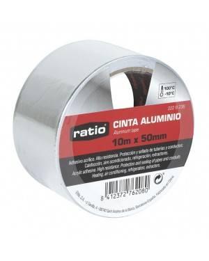 RATIO Cinta Adhesiva De Aluminio 50 Mm X10M