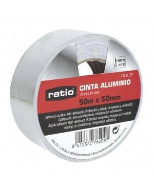 RATIO Cinta Adhesiva De Aluminio 50 Mm X50M