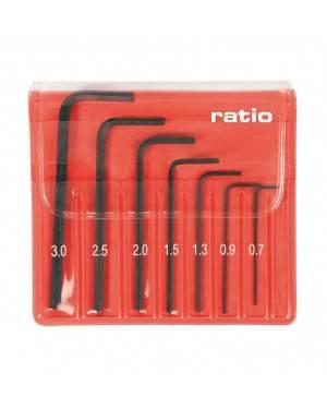 RATIO Llaves Allen Set 7 Piezas 0.7-3 Mm Precisión Ratio