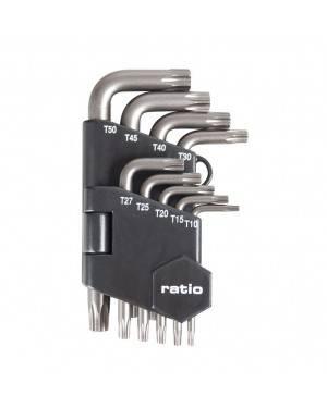 Llaves Torx Seguridad Set 9 Piezas T10-T50 Ratio