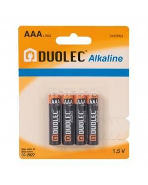 Blíster 4 Pilas Alcalina Aaa Lr03 Duolec