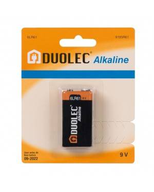 Blíster 1 Pila Alcalina 9V 6Lr61 Duolec