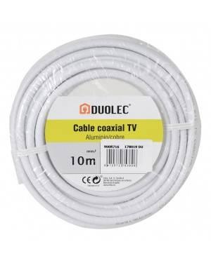 Cable Coaxial Antena Tv Aluminio/Cobre 10M Duolec