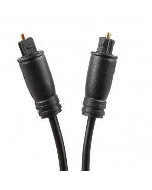 Cable Fibra Óptica De Audio 1M Negro