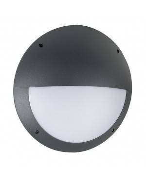Aplique Exterior Led Venus 12W Diametro 300 Mm Negro