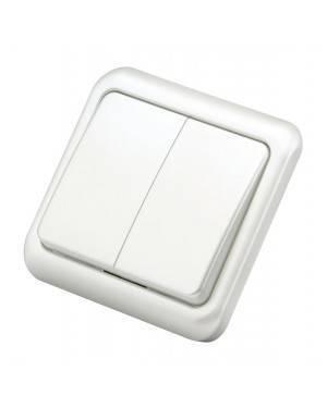 Doble Interruptor Empotrable Blanco