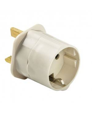 Adaptador Ingles-Europeo 10A-250V Duolec