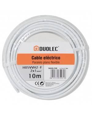 Cable Eléctrico Paralelo 2X1 10M Blanco Duolec