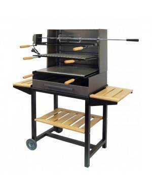CHAIN88 Barbecue C / band. plate, grill and griddle Imex El Zorro