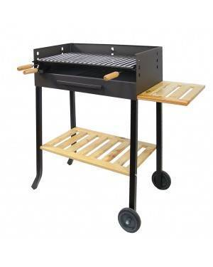 Barbecue with wheels with stainless steel grill IMEX EL ZORRO