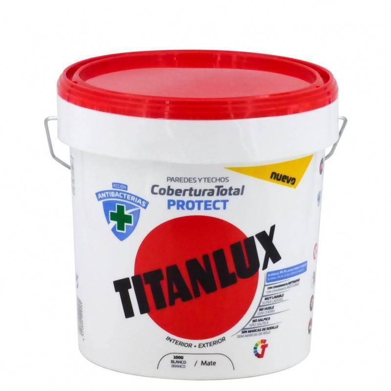 Titan Pintura Blanca Antibacterias Cobertura Total Protect Titanlux