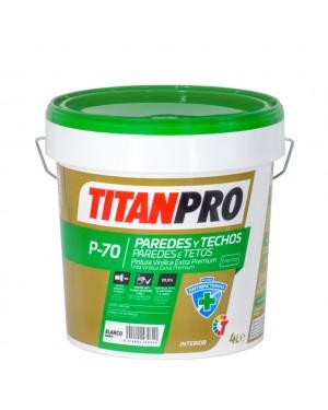 Titan Pro Pintura vinílica Extra Premium Antibacterias P70 Blanco mate Titan Pro