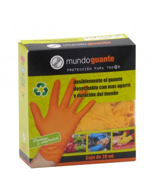 Mundo guante Caja 20 guantes Nitrilo Diamantado
