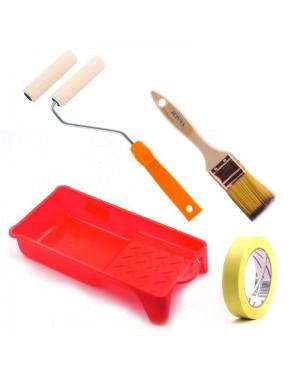 Acessórios do kit de tintas Dami Mini veludo de esmalte