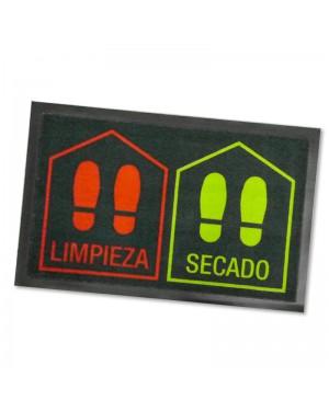 DINTEX Zerbino disinfettante in poliammide rosso-verde 45x70 cm