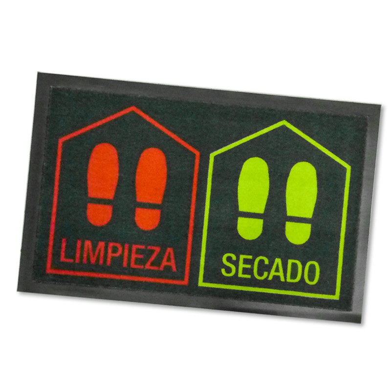 DINTEX Polyamide Doormat Disinfection red-green 45x70 cms