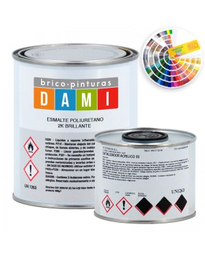 Dami Glossy Polyurethane Enamel Paints 2 components