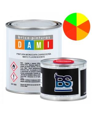 Pinturas Dami Monocapa Carrocería Mate UHS 2K Fluorescente 1L