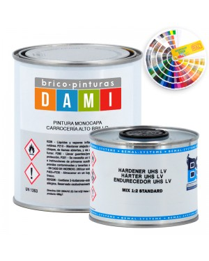 Peintures de couleur Dami Monolayer High Gloss UHS 2K RAL