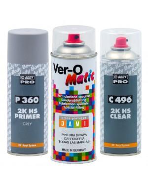 Dami Kit Spray Zweischichtige Körperfarben Alle Marken + Grundierung + Lack