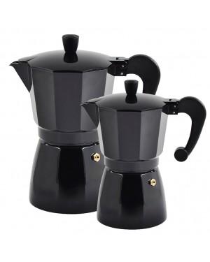 EHL Black Aluminum Coffee Maker HABITEX