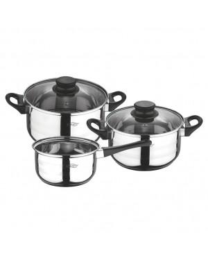 HABITEX Cookware 5 pieces inox Cookware Toledo
