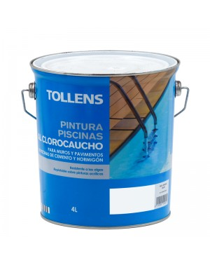 Tollens pintar piscinas de borracha clorada Tollens