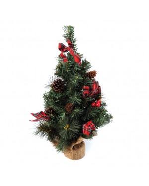 HABITEX Scottish Christmas tree decorated 30 cm