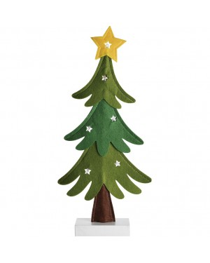 HABITEX Christmas tree in wood base fabric with Led lights