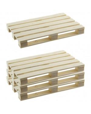 Porta-paletes de madeira HABITEX 4 unidades
