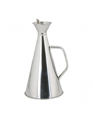 HABITEX Non-drip stainless steel oil can