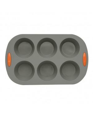 Forma de silicone HABITEX para 6 muffins