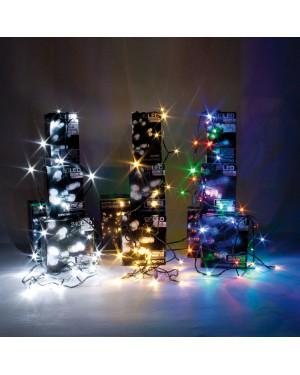 Luzes de corda EHL 80 LED branco interno / externo