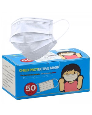 CHAIN88 WHITE CHILDREN'S HYGIENIC MASK 50 UNIT