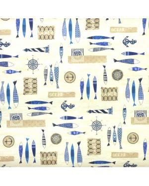 DINTEX Anti-Stain Tablecloth Model Ocean 140 x 100 cms