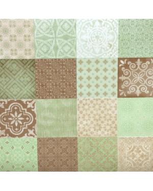 DINTEX Fleece Tablecloth Model Evoque Mint 140 x 100 cms