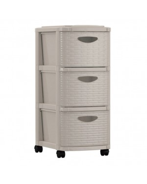 HABITEX Chest of drawers 3 drawers Color Cream Weave series
