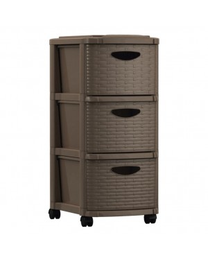 HABITEX Brown chest of 3 drawers series Weave
