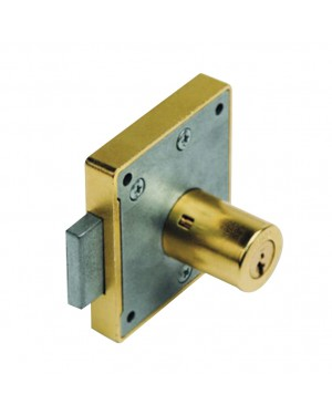 EHL Furniture rim lock URKO 23 R. 30mm Brass plated