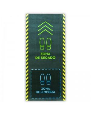 DINTEX tapete desinfetante de poliamida azul esverdeado 67x150 cm