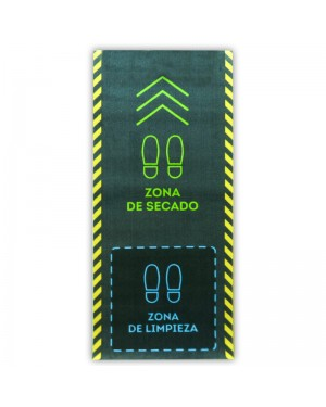 DINTEX Tapis désinfectant polyamide bleu-vert 67x150 cm